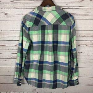 J. Crew Tops - J. Crew Pacey Plaid Flannel Boyfriend Shirt - T9